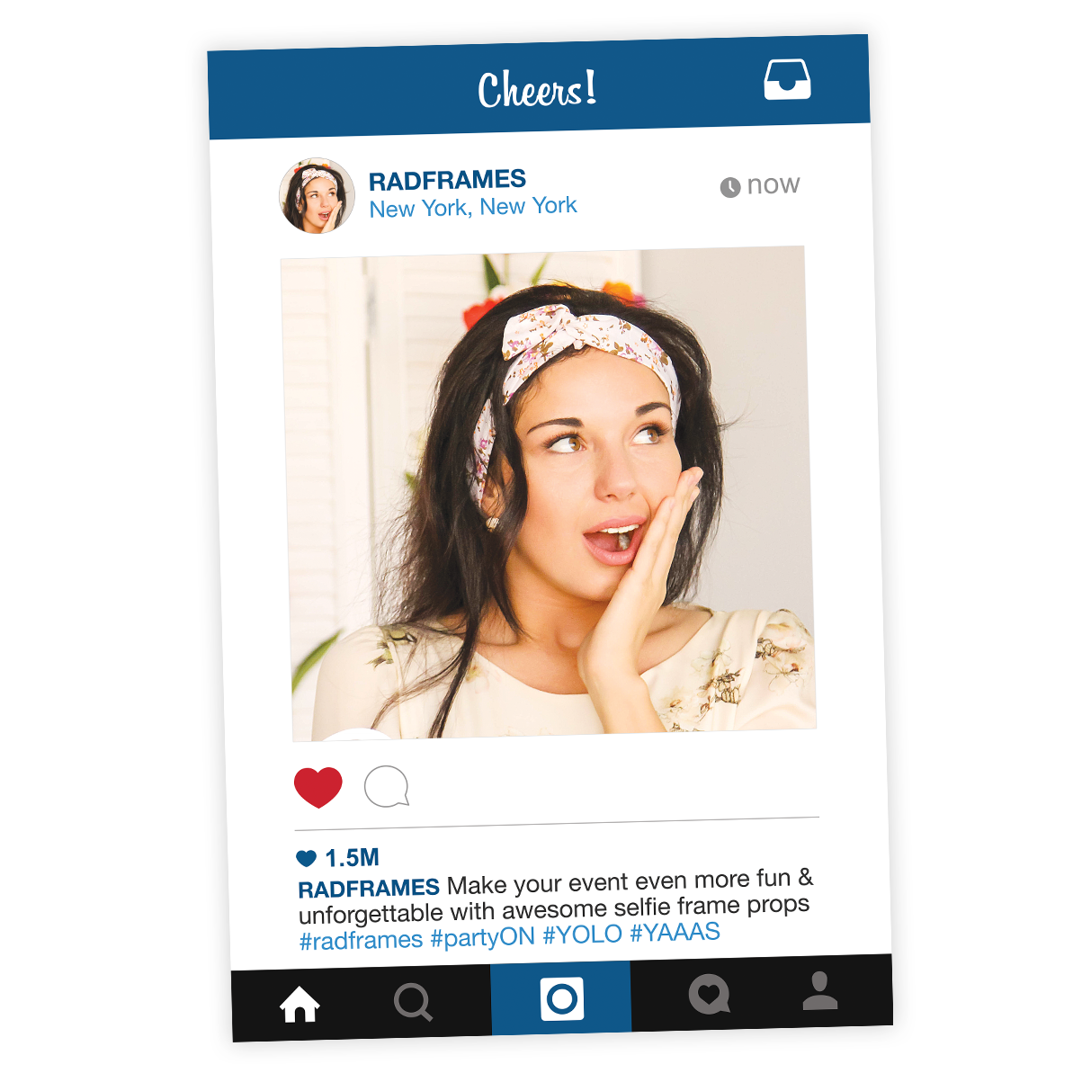 instagram frame prop cutout photo booth frame prop