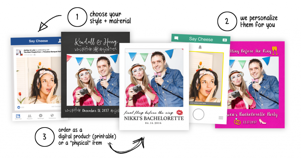Selfie Frame Cutouts + Photo Booth Props | FABSelfie