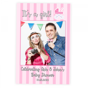 Baby Shower Its a Girl Selfie Frame Prop