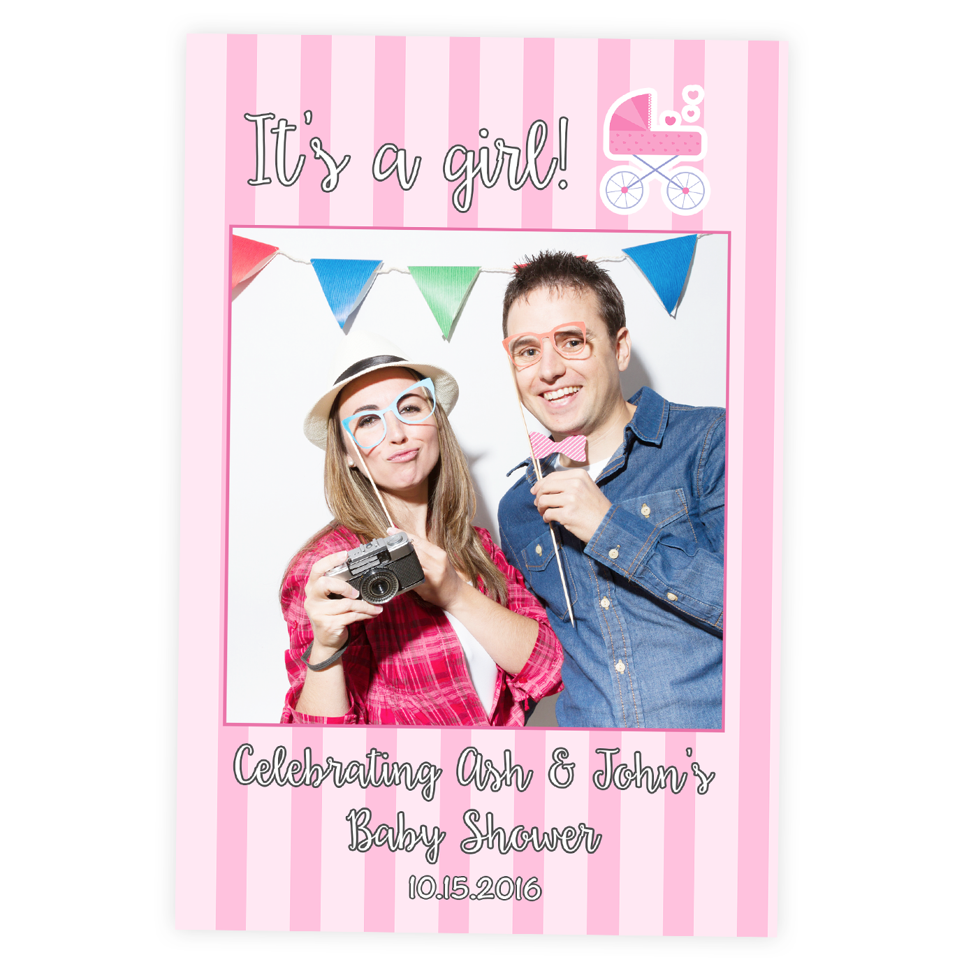 Baby Shower Selfie Frame Cutout Its A Girl Photo Booth Prop