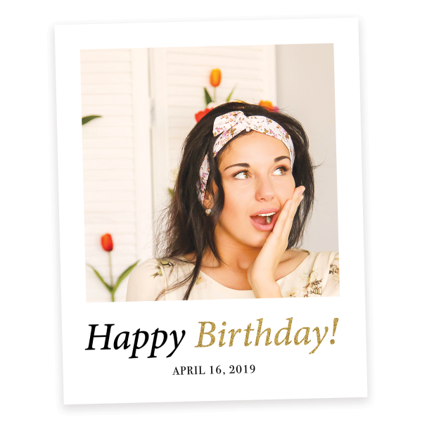 Happy Birthday Selfie Frame Photo Booth Prop