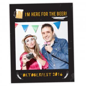 Oktoberfest Selfie Frame Cutout Prop