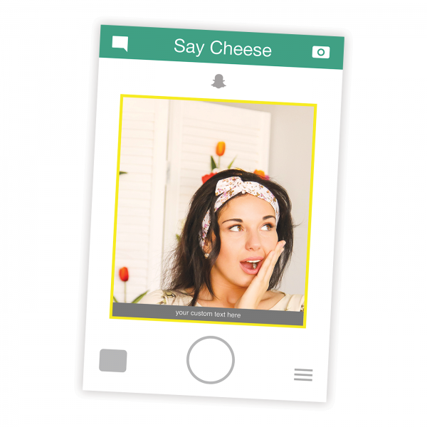 Snapchat Frame Prop Selfie