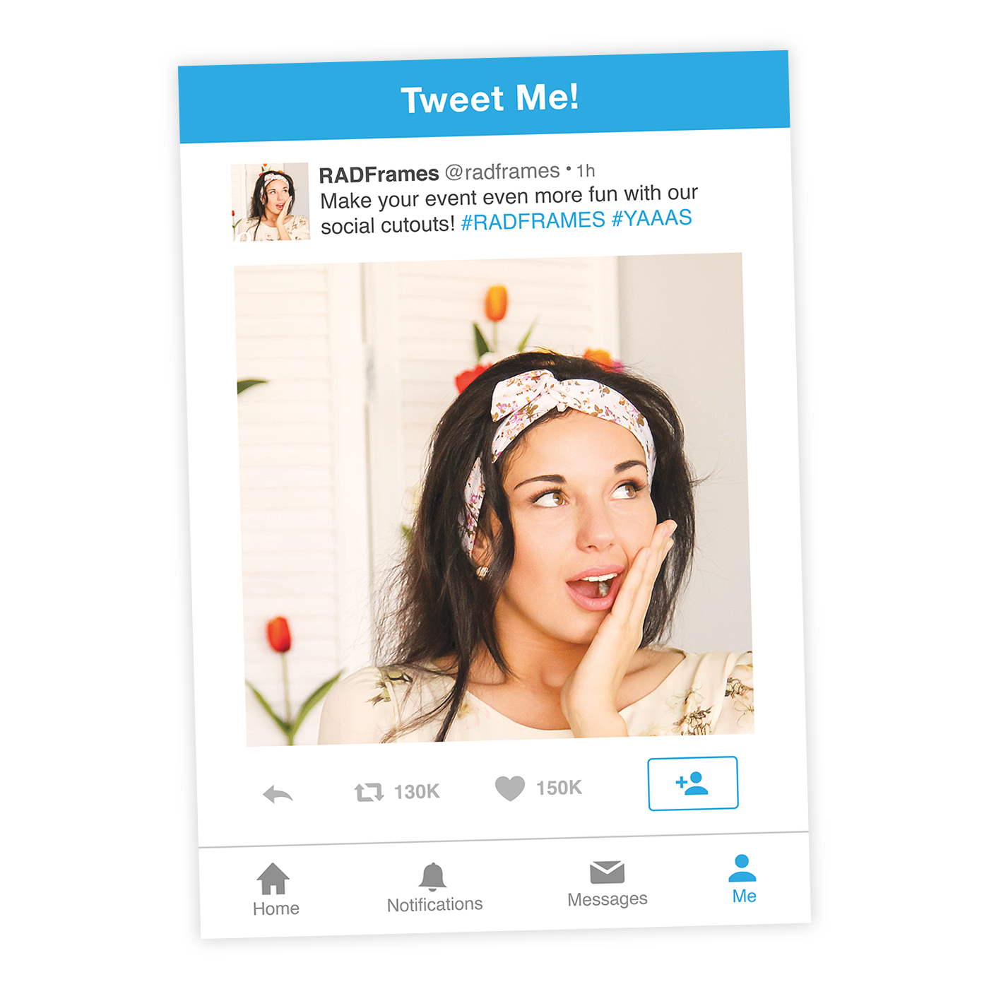 Twitter Frame Cutout + Twitter Style Photo Booth Prop - FABSelfie