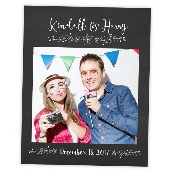 Wedding Selfie Chalkboard Frame Prop